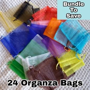 4/$20- 24 Mixed 4x6 Small Organza Bags